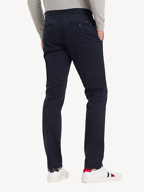 TOMMY HILFIGER Slim Fit Flex Chinos - NAVY BLAZER - TOMMY HILFIGER NEW IN - detail image 1