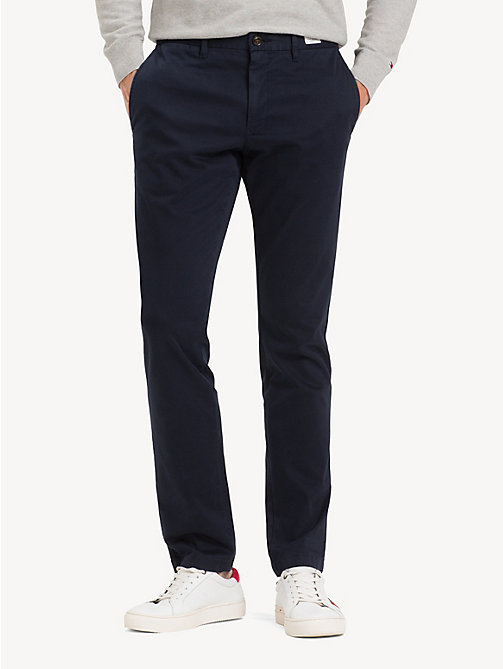 TOMMY HILFIGER Slim Fit Flex Chinos - NAVY BLAZER - TOMMY HILFIGER NEW IN - main image