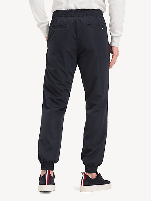 TOMMY HILFIGER Cuffed Ankle Logo Joggers - JET BLACK - TOMMY HILFIGER NEW IN - detail image 1