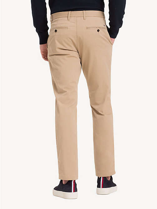 TOMMY HILFIGER Stretch Cotton Chinos - BATIQUE KHAKI - TOMMY HILFIGER Chinos - detail image 1