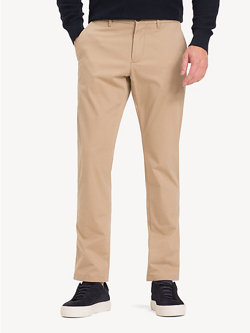 TOMMY HILFIGER Stretch Cotton Chinos - BATIQUE KHAKI - TOMMY HILFIGER NEW IN - main image