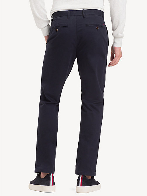 TOMMY HILFIGER Stretch Cotton Chinos - SKY CAPTAIN - TOMMY HILFIGER Chinos - detail image 1