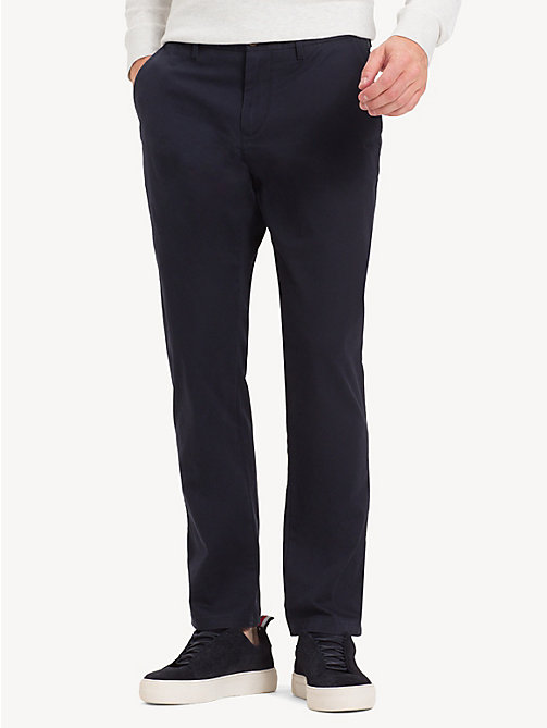 TOMMY HILFIGER Stretch Cotton Chinos - SKY CAPTAIN - TOMMY HILFIGER NEW IN - main image
