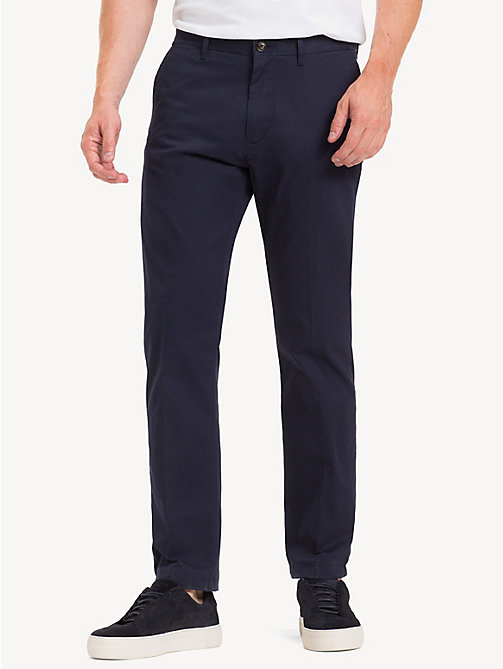TOMMY HILFIGER Fitted Stretch Cotton Chinos - SKY CAPTAIN - TOMMY HILFIGER NEW IN - main image