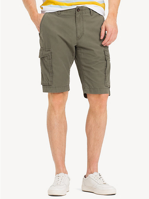 TOMMY HILFIGER Pure Cotton Twill Cargo Shorts - GRAPE LEAF - TOMMY HILFIGER Shorts - main image
