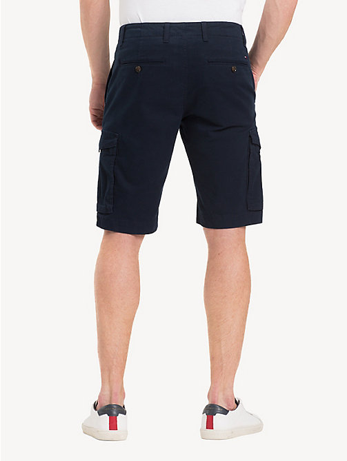 TOMMY HILFIGER Pure Cotton Twill Cargo Shorts - SKY CAPTAIN - TOMMY HILFIGER Shorts - detail image 1