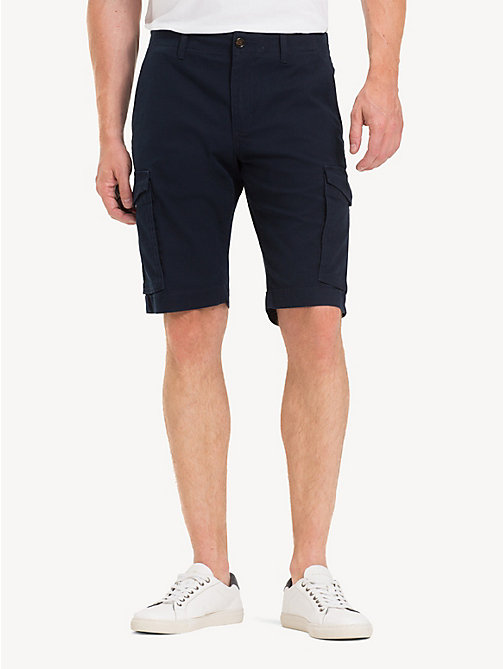 TOMMY HILFIGER Pure Cotton Twill Cargo Shorts - SKY CAPTAIN - TOMMY HILFIGER Shorts - main image