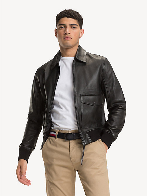 TOMMY HILFIGER Pure Leather Jacket - JET BLACK - TOMMY HILFIGER Jackets - main image