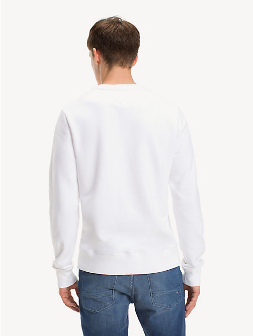 TOMMY HILFIGER Sweatshirt mit Logo in Blockfarben - BRIGHT WHITE - TOMMY HILFIGER NEW IN - main image 1