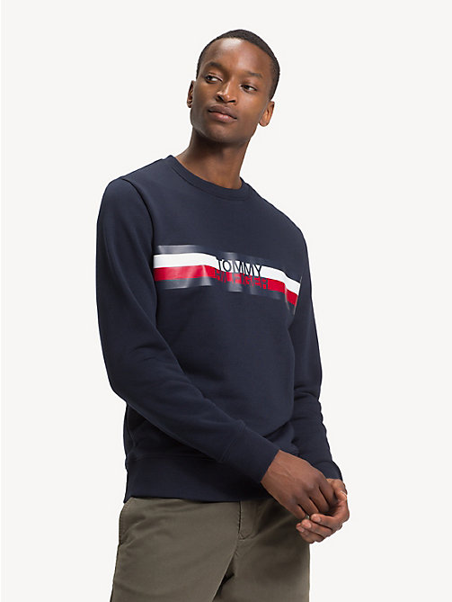 TOMMY HILFIGER Colour-Blocked Logo Sweatshirt - SKY CAPTAIN - TOMMY HILFIGER NEW IN - main image