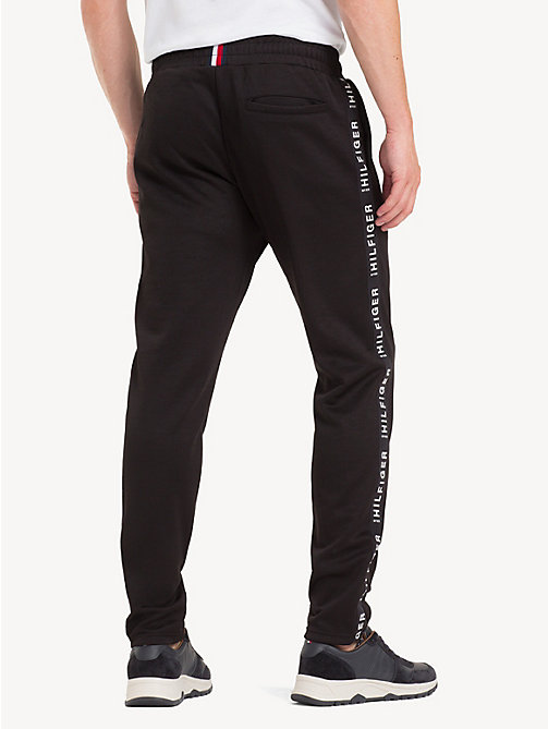 TOMMY HILFIGER Sporty Side Tape Joggers - JET BLACK - TOMMY HILFIGER Sweatpants - detail image 1