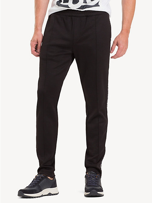 TOMMY HILFIGER Sporty Side Tape Joggers - JET BLACK - TOMMY HILFIGER Sweatpants - main image