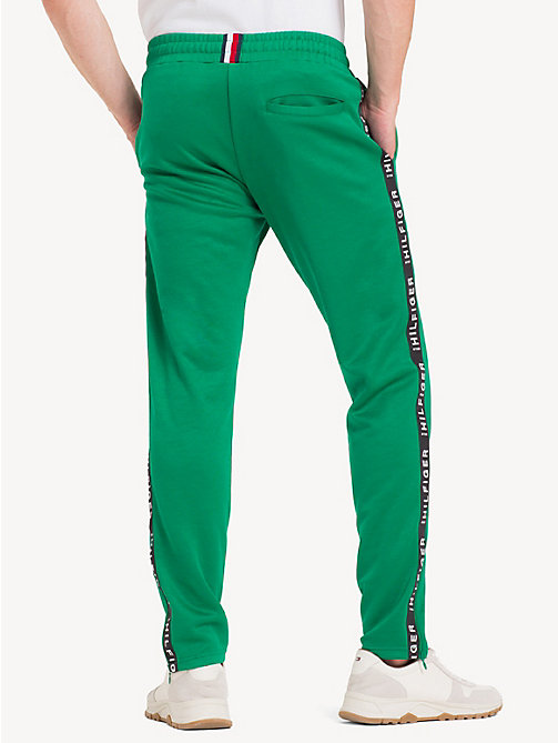 TOMMY HILFIGER Sporty Side Tape Joggers - ULTRAMARINE GREEN - TOMMY HILFIGER Sweatpants - detail image 1