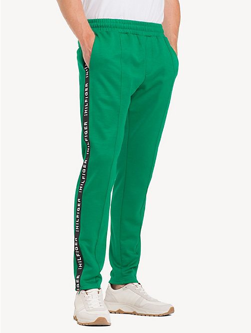 TOMMY HILFIGER Sporty Side Tape Joggers - ULTRAMARINE GREEN - TOMMY HILFIGER Sweatpants - main image