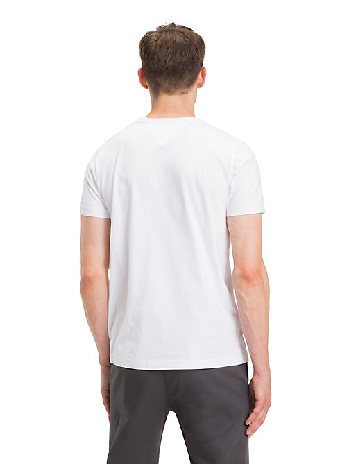 TOMMY HILFIGER T-shirt à logo en pur coton bio - BRIGHT WHITE - TOMMY HILFIGER Sustainable Evolution - image détaillée 1