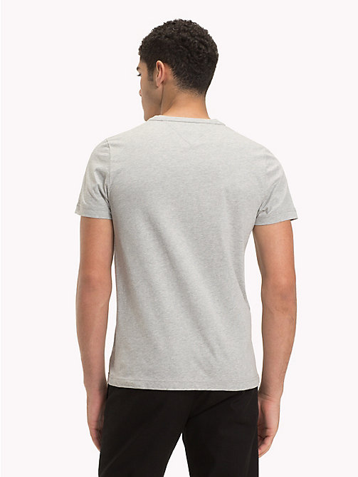 TOMMY HILFIGER Pure Organic Cotton Logo T-Shirt - CLOUD HTR - TOMMY HILFIGER Sustainable Evolution - detail image 1
