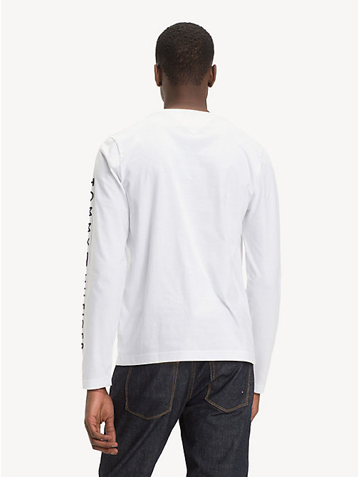 TOMMY HILFIGER Long-Sleeve Cotton T-Shirt - BRIGHT WHITE - TOMMY HILFIGER Sustainable Evolution - detail image 1