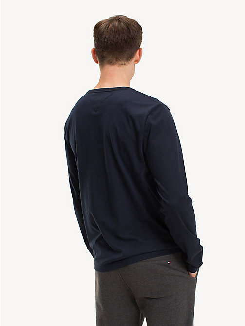 TOMMY HILFIGER Long-Sleeve Cotton T-Shirt - SKY CAPTAIN - TOMMY HILFIGER Sustainable Evolution - detail image 1