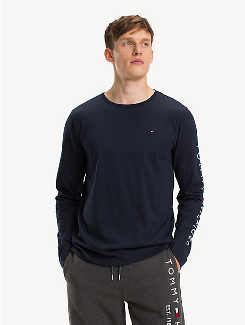 TOMMY HILFIGER Long-Sleeve Cotton T-Shirt - SKY CAPTAIN - TOMMY HILFIGER Sustainable Evolution - main image
