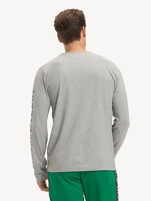 TOMMY HILFIGER Long-Sleeve Cotton T-Shirt - CLOUD HTR - TOMMY HILFIGER Sustainable Evolution - detail image 1