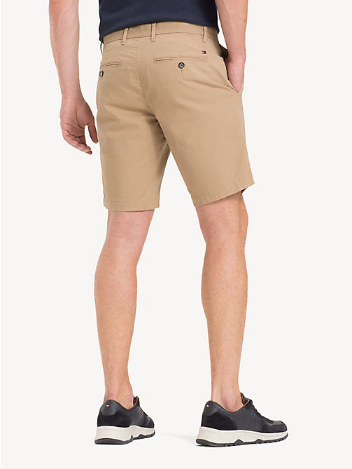 TOMMY HILFIGER Stretch Cotton Twill Shorts - BATIQUE KHAKI - TOMMY HILFIGER Shorts - detail image 1