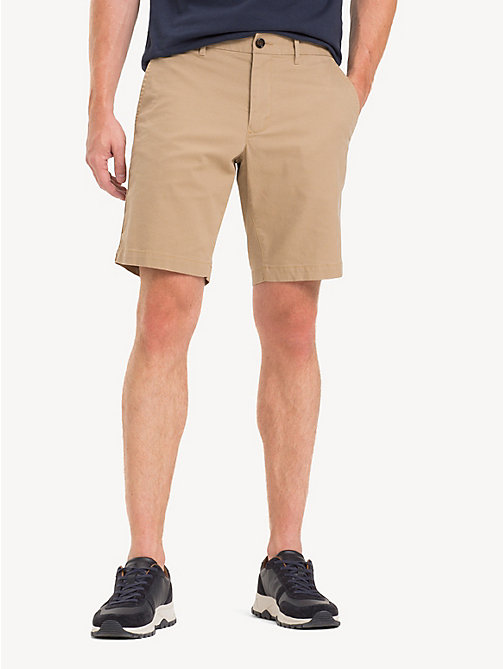 TOMMY HILFIGER Stretch Cotton Twill Shorts - BATIQUE KHAKI - TOMMY HILFIGER Shorts - main image