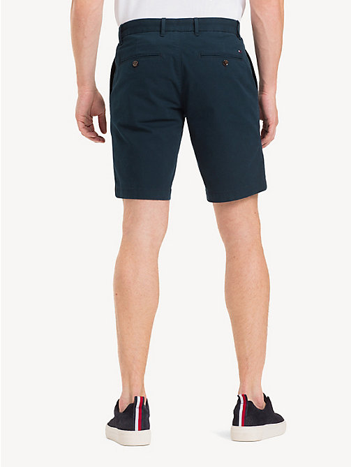 TOMMY HILFIGER Stretch Cotton Twill Shorts - SKY CAPTAIN - TOMMY HILFIGER Shorts - detail image 1