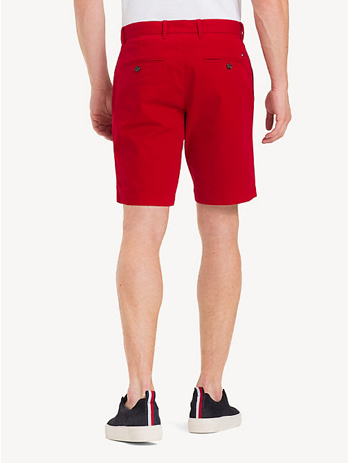 TOMMY HILFIGER Stretch Cotton Twill Shorts - HAUTE RED - TOMMY HILFIGER Shorts - detail image 1