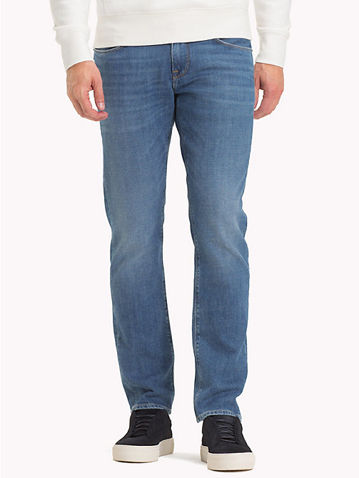 TOMMY HILFIGER Big & Tall Fitted Straight Jeans - BAINVILLE BLUE - TOMMY HILFIGER Jeans - main image