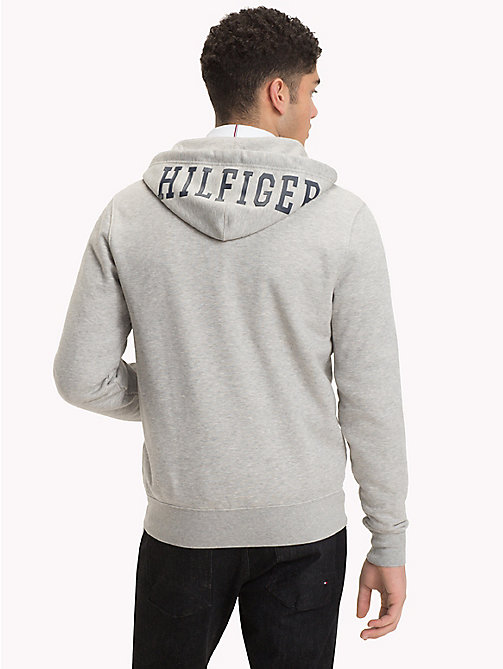 TOMMY HILFIGER Big & Tall Logo Hoody - CLOUD HTR - TOMMY HILFIGER Hoodies - detail image 1