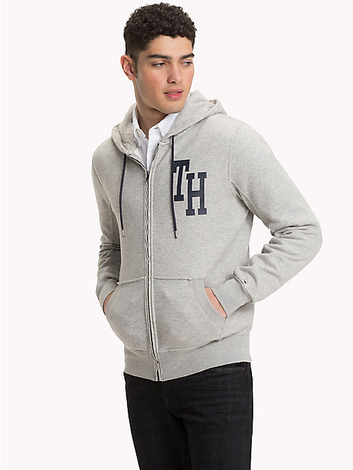 TOMMY HILFIGER Big & Tall Logo Hoody - CLOUD HTR - TOMMY HILFIGER Hoodies - main image