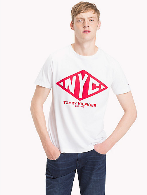 TOMMY HILFIGER Big & Tall Logo T-Shirt - BRIGHT WHITE - TOMMY HILFIGER T-Shirts - main image