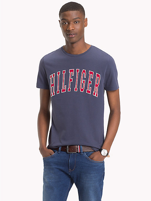 TOMMY HILFIGER Big & Tall Logo T-Shirt - BLACK IRIS - TOMMY HILFIGER T-Shirts - main image