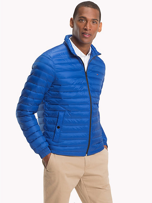 TOMMY HILFIGER Big & Tall Packable Down Jacket - BLUE LOLITE - TOMMY HILFIGER Big & Tall - main image