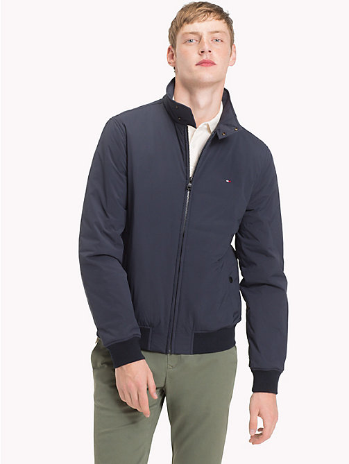 TOMMY HILFIGER Big & Tall High Neck Bomber Jacket - 413-SKY CAPTAIN - TOMMY HILFIGER Jackets - main image