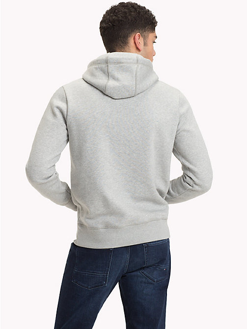 TOMMY HILFIGER Big & Tall fleece hoodie met logo - CLOUD HTR - TOMMY HILFIGER Grote Maten - detail image 1
