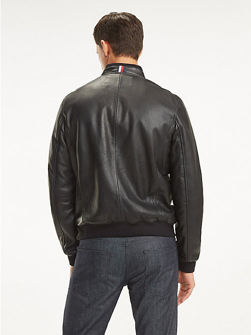bde312cfe992b6 TOMMY HILFIGERMercedes Benz Perforated Leather Bomber. £495.00. NEW