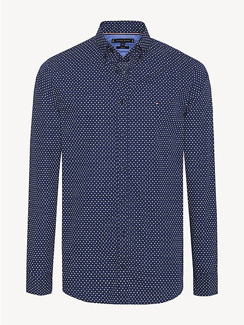 TOMMY HILFIGER Geometric Print Slim Fit Shirt - MEDIEVAL BLUE MULTI - TOMMY HILFIGER NEW IN - main image