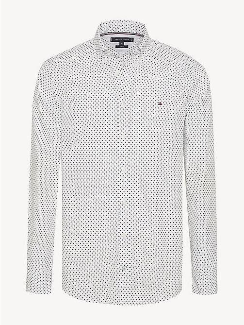 TOMMY HILFIGER Geometric Print Slim Fit Shirt - BRIGHT WHITE/MULTI - TOMMY HILFIGER NEW IN - main image