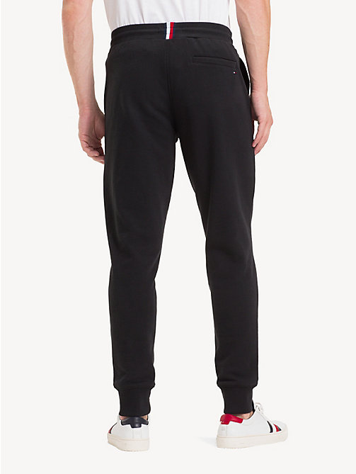 TOMMY HILFIGER Pure Cotton Logo Joggers - JET BLACK - TOMMY HILFIGER Sweatpants - detail image 1