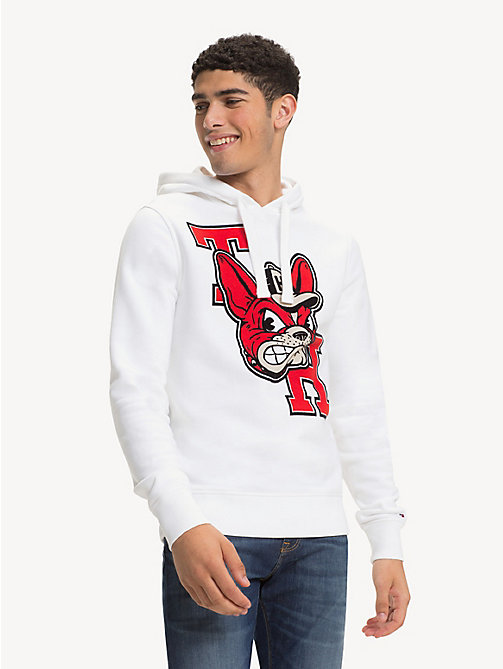 TOMMY HILFIGER Monogram Mascot Hoody - BRIGHT WHITE -  Hoodies - main image