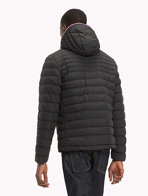 TOMMY HILFIGER Removable Hood Padded Jacket - JET BLACK - TOMMY HILFIGER NEW IN - detail image 1