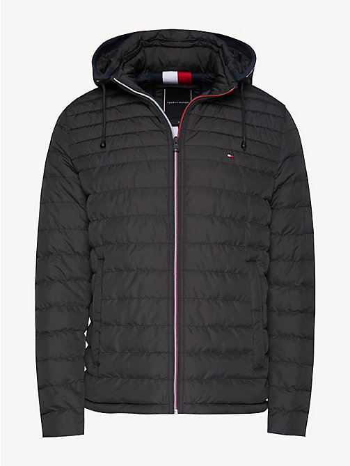 TOMMY HILFIGER Removable Hood Padded Jacket - JET BLACK - TOMMY HILFIGER Jackets - detail image 1