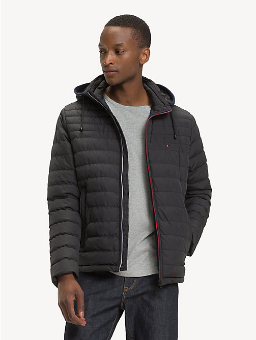TOMMY HILFIGER Removable Hood Padded Jacket - JET BLACK - TOMMY HILFIGER NEW IN - main image