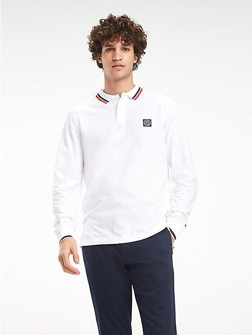 TOMMY HILFIGER Pure Cotton Long-Sleeve Polo Shirt - BRIGHT WHITE - TOMMY HILFIGER NEW IN - main image