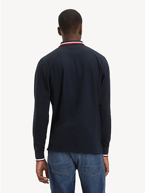 TOMMY HILFIGER Pure Cotton Long-Sleeve Polo Shirt - SKY CAPTAIN - TOMMY HILFIGER NEW IN - detail image 1