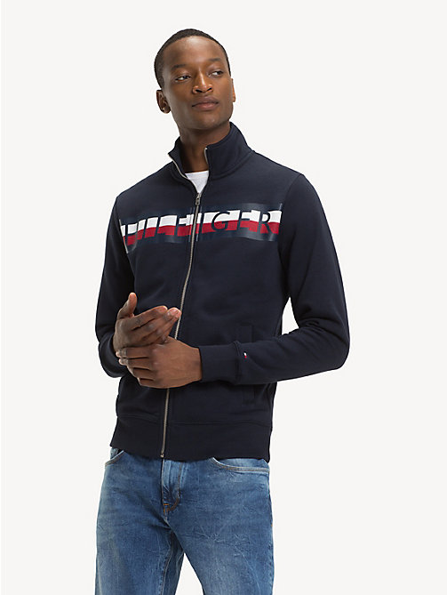 TOMMY HILFIGER Logo Zip-Thru Sweatshirt - SKY CAPTAIN - TOMMY HILFIGER NEW IN - main image