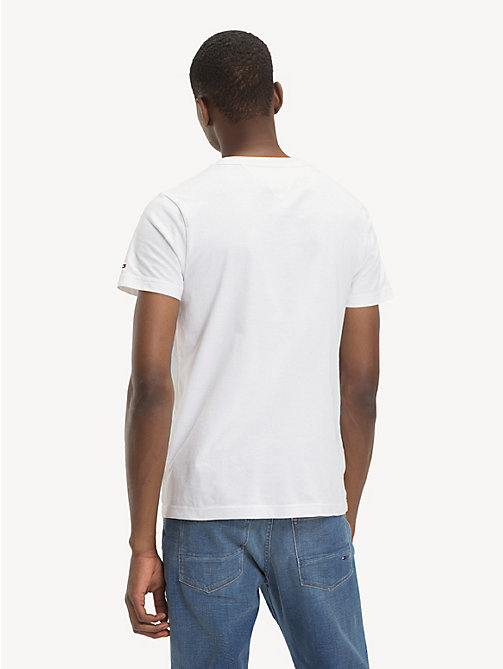 TOMMY HILFIGER Pure Cotton Logo T-Shirt - BRIGHT WHITE - TOMMY HILFIGER NEW IN - detail image 1