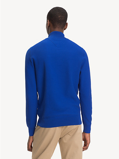 TOMMY HILFIGER Pure Cotton Mock Neck Jumper - SURF THE WEB - TOMMY HILFIGER NEW IN - detail image 1