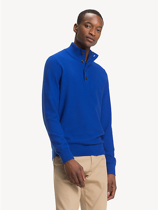 TOMMY HILFIGER Pure Cotton Mock Neck Jumper - SURF THE WEB - TOMMY HILFIGER Winter Warmers - main image